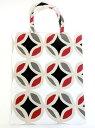 リトアニア製 エコバッグ 七宝文様《赤、グレー、黒、白》