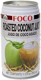 烤椰汁 [350 毫升] (FOCO) 泰國、 汁、 椰子汁、 椰子椰子水