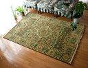 手織りのインド絨毯【約185cm x 約128cm】 / 送料無料 レビューでタイカレープレゼント あす楽