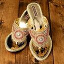 ビジューとラインストーンのマハラニミュール ビーチサンダル ビーサン 靴 シューズ 24cm程