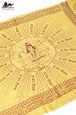 200cmx100cm 座りシヴァのラムナミ 黄色 / 神様布 スカーフ あす楽