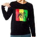 ONE LOVE WORLD 長袖Tシャツ T-シャツ マリファナ ロンT アジア アジアン エスニック 衣料 服 ファッション インド