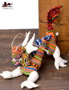 モン族の手作りぬいぐるみ ドラゴン / タイ ゆるキャラ インド雑貨 ネパール雑貨 エスニック アジア
