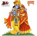 神様デコレーションタイル ラーダとクリシュナ / インド アジア ガネーシャ エスニック 雑貨