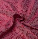 光沢ペイズリー シルク風ファブリック 朱色系 / デコレーション 布 光沢布 インド 装飾 アジア エスニック