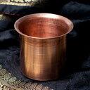 【祭壇用】銅製カップ 【直径:7.2cm】【レビューで200円キャッシュバック!】 エスニック インド アジア 雑貨 水差し ヒンドゥー教 チベタン マニ
