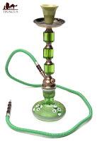 【送料無料】 シーシャ(水タバコ)緑【約43cm】 / 水パイプ 水煙管 フッカー ナルギレ エスニック インド アジア 雑貨