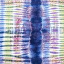 ショッピングソファーカバー 〔195cm*100cm〕ガネーシャ&ヒンドゥー神様のタイダイサイケデリック布 青紫×紫×黄緑×黄色系 / アジア インド ファブリック エスニック
