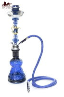 【送料無料】 シーシャ (水タバコ) 青【約50cm】 / 水パイプ 水煙管 フッカー ナルギレ エスニック インド アジア 雑貨