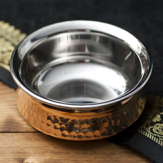 カダイ(直径:11cm) / インド 鍋 装飾 食器 銅 レビューでタイカレープレゼント あす楽