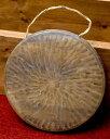 ベトナムのゴング(銅鑼)18cm / ドラ 鐘 ベル 民族楽器 インド楽器 エスニック楽器 ヒーリング楽器