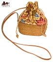 トゥガナン村のアタ ミニポーチ / ショルダーバッグ 肩かけ かごバッグ アタバッグ バリ エスニック アジア インド
