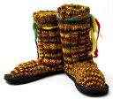 ショッピングニットブーツ ネパールのニット・ブーツ 【赤×黄×緑・斑】 25cm)/27cm) あす楽