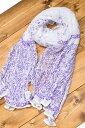 (ウッドブロック)インドのクリンクルストール / マフラー スカーフ くしゅくしゅ アジア 布 CRINKLE ファブリック エスニック