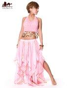 ベリーダンス フェアリーシフォンスカート Belly dance 薄ピンク/ブルー/ホワイト/イエロー/パープル/ビビッドピンク/水色/レッド/ブラック レビューでタイカレープレゼント あす楽