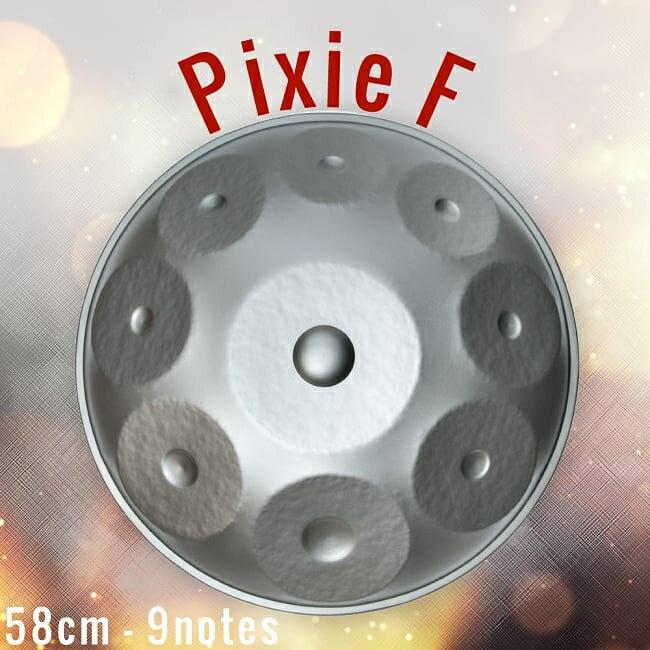 送料無料ハンドパンPixieF58cm9notesソフトケース付属/ハングドラムスペースドラムスチー