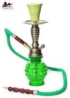 シーシャ(水タバコ)緑 【約30cm】 / 水パイプ 水煙管 説明書とトング付き レビューでタイカレープレゼント あす楽