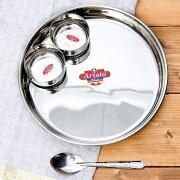 【大皿 プレート】 カレー皿セット カレー大皿と小皿2枚のセット / ラウンドターリー 丸皿 ターリープレート インド チャイ チャイカップ エスニック アジアン 食品 食材 食器