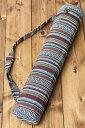 ネパール織り布のヨガマットバッグ / ショルダー レビ