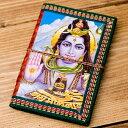 〈12.8cm×8.5cm〉インドの神様柄紙メモ帳 / ノート 手帳 あす楽