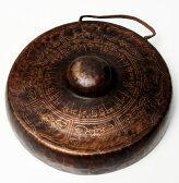 チベット仏教の銅鑼【26cm 1300g】【送料無料】 エスニック インド アジア 雑貨 ドラ ネパール 打楽器 民族楽器 チベタン マニ