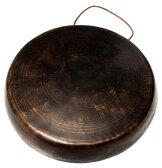 チベット仏教の銅鑼【27cm 1050g】【送料無料】 エスニック インド アジア 雑貨 ドラ ネパール 打楽器 民族楽器 チベタン マニ