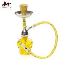 シーシャ(水タバコ) 黄色【20cm】 / 水パイプ 水煙管 フッカー ナルギレ エスニック インド アジア 雑貨
