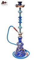 【送料無料】 シーシャ(水タバコ) 青 【約82cm】 / 水パイプ 水煙管 フッカー ナルギレ エスニック インド アジア 雑貨