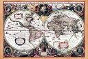 【店内全品ポイント5倍 12月17日 9 59迄限定】 【17世紀】アンティーク地図ポスター Nova Totius Terrarum Orbis Geographica Ac Hydrographica Tabula 【両半球世界地図】 / 古地図 あす楽