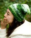 ウールニット帽 【グリーン】 / ネパール 帽子 ロールハット 耳あて エスニック衣料 アジアンファッション エスニックファッション