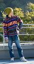 【送料無料】 ネパール民族織り布のカラフルジャケット / 冬 秋 ウール インナーフリース 冬のアウター コート メンズ レディース ユニセックス アジアンファッション エスニック衣料 エスニックファッション