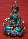 アミターユス - 無量寿菩薩 高さ:約20.5 【送料無料&あす楽】 ネパール 像 神様 仏像 チベット 密教 ブッダ像 エスニック インド アジア 雑貨