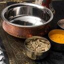 【鍋】 カダイ(直径:約17.5cm) / インド 装飾 食器 銅 調理器具 エスニック アジアン 食品 食材