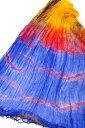 インドの薄ショール クリンクル タイダイドゥパッタ ・スカーフ/ストール/マフラー/シフォン レース パンジャビ サリー 民族衣装