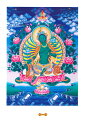 ポストカード グリーン・ターラのポストカード 曼荼羅 シンボル 謎 マントラ 真言 神 ハガキ タンカ マンダラ / あす楽