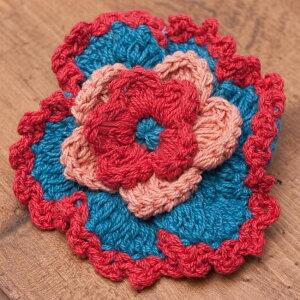 手作りコットンのお花ヘアゴム / フラワー ネパール