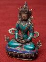 アミターユス - 無量寿菩薩 高さ:約20.5 【送料無料】 エスニック インド アジア 雑貨 ネパール 像 神様 仏像 チベット 密教 ブッダ像