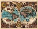 アンティークの世界地図ポスター★【17世紀】 古地図 マップ 海図★ A NEW AND ACCVRAT MAP OF THE WORLD 【両半球世界地図】 |