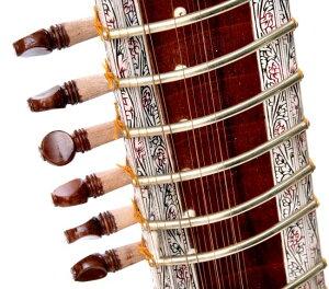 【PALOMA社製】高級シタール+グラスファイバーケース | 【送料無料】 楽器 Sitar インド 弦楽器 民族楽器 アジア エスニック