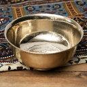 ブラス製のボウル ライスボウルサイズ 直径 約15.8cm〜17.8cm / 礼拝 祭壇 小物いれ オイルランプ インド お香立て インセンス アジア エスニック