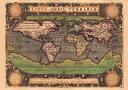 【16世紀】アンティーク地図ポスター★古地図 マップ 世界地図 海図★ TYPVS ORBIS TERRARVM 【世界地図】