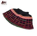 女裝 - モン族の古布プリーツスカートミニ 子供服 インド アジア ハーフ ショート エスニック 衣料 ファッション