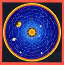 特大 コスモス・マンダラ(宇宙) | インド 本 印刷物 ステッカー ポストカード ポスター タンカ 仏画 タンカのポスタ - 曼陀羅