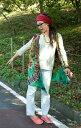 タイダイレーヨンサラサラベスト 【ライトグリーン】 | 【送料無料】 エスニック ネパール アジア 衣料 服 ファッション インド