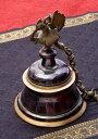 【送料無料】 寺院の鐘 孔雀【一点もの】 / ベル ガンター アジアン インド 風鈴 エスニック 雑貨