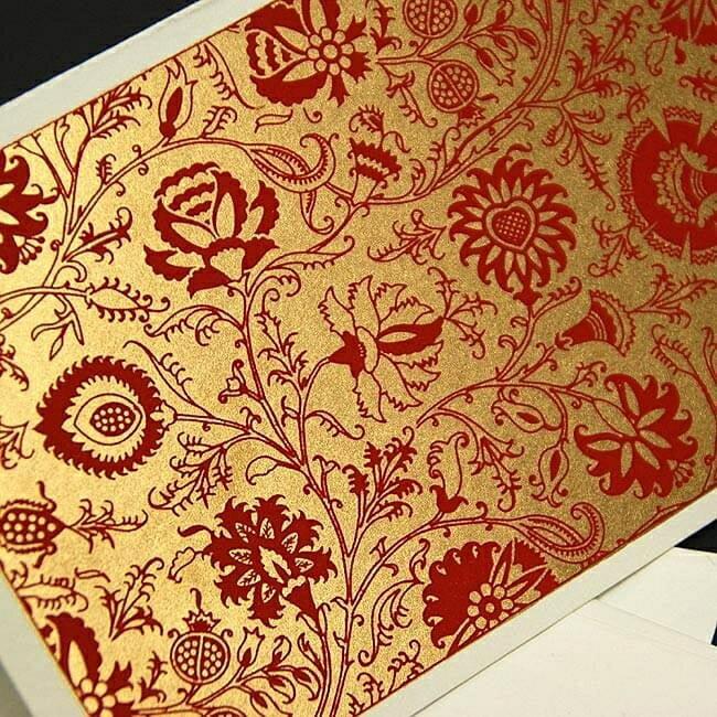 インドのメッセージカードセット Bakul(赤) / Chimanlals チマンラール レビューでタイカレープレゼント あす楽