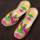 ショッピングフラット ゴージャス刺繍のマハラニフラットシューズ / 靴 パンプス ペッタンコ靴 インド アジア サンダル レディース エスニック衣料 アジアンファッション エスニックファッション