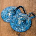 ドラゴン柄カラーディンシャ 直径:約6cm / チベタンベル マンジーラ ネパール 楽器 レビューでタイカレープレゼント あす楽