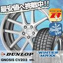 ウインターマックス 01 WM01 245/45R19 98Q ワーク グノーシス CV203 マットシルバー(MSL) スタッドレスタイヤホイール 4本 セット