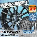 165/55R14 72Q DUNLOP ダンロップ WINTER MAXX 01 ウインターマックス 01 WM01 VELVA SPORTS ヴェルヴァ スポルト スタッドレスタイヤホイール4本セット